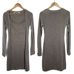 Athleta Taupe Hot Toddy Sweater Dress